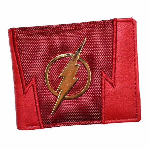 FVIP Neue Ankunft Männer Kurze Geldbörse DC Geldbörsen Der Flash / Superman Geldbörse Mit Pailletten und Kartenhalter Jungen Geldbörsen # 302350