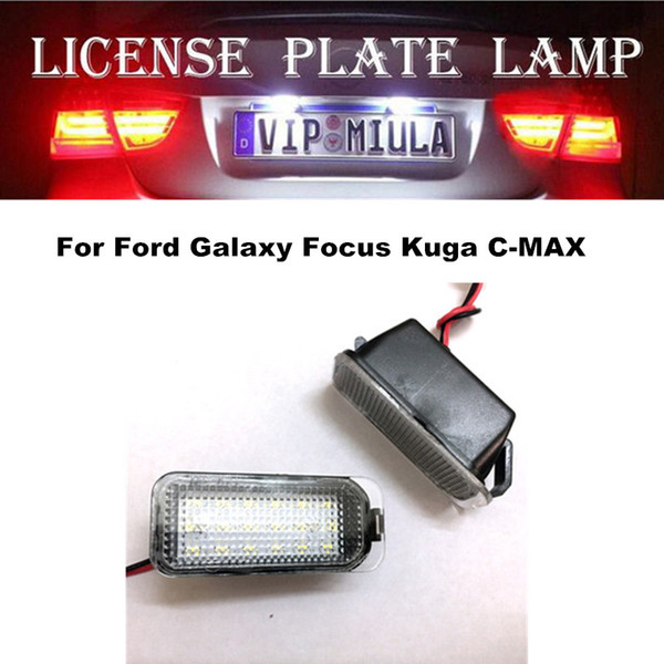 top popular License Plate Light For Ford Galaxy Focus Kuga C-MAX White Color Car Accessories LED Light Bulb For Focus 2021