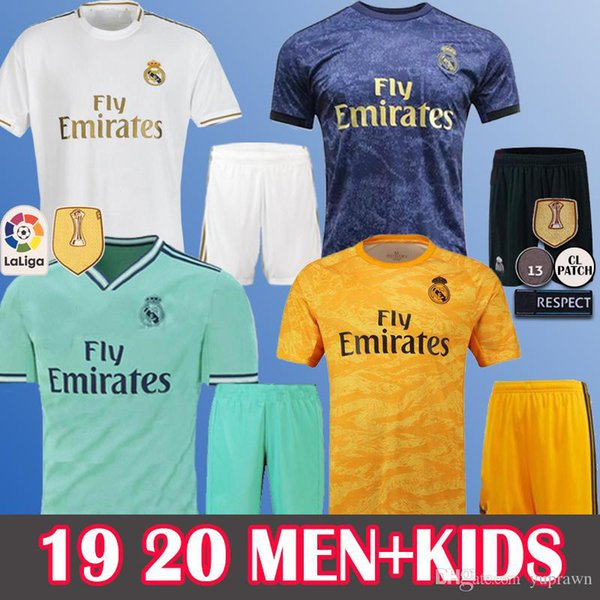 MEN+KIDS 19 20 Real Madrid Hazard Soccer Jerseys MODRIC ASENSIO VINICIUS JR BALE Sergio Ramos Casemiro Long Sleeve Navas ISCO Camiseta Kits