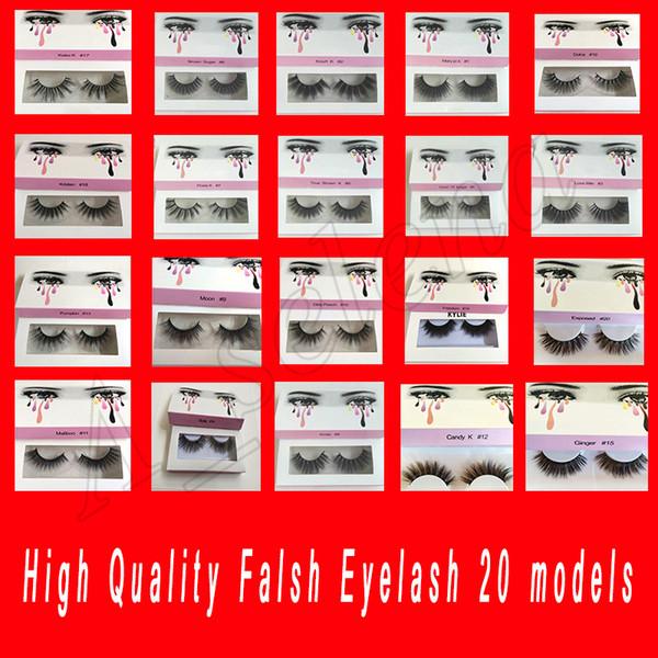 Falso a mano famosi Ciglia finte 20 modelli del ciglio di estensioni ciglia voluminose finte ciglia For Lashes Eye il trucco il trasporto libero