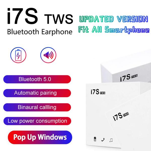 Pop up window i7 i7 tw bluetooth headphone twin earbud mini wirele earphone head et with mic tereo v5 0 with charging box