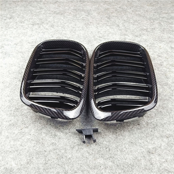 best selling For BMW 5 Series E39 ABS Carbon Look Black  M Color front grille Double slat grilles 1996-2003 Car Styling