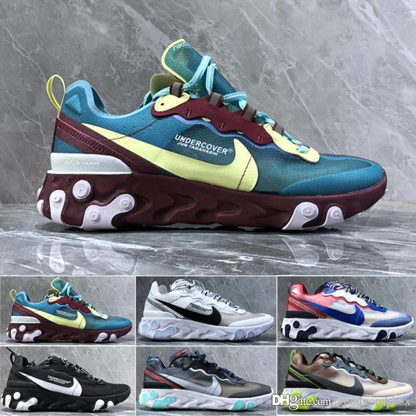 2019 React Element Volt 55 Game Royal Taped Seams Running Shoes For Women men 55s Blue Chill Trainer Sail Sports Sneakers a77