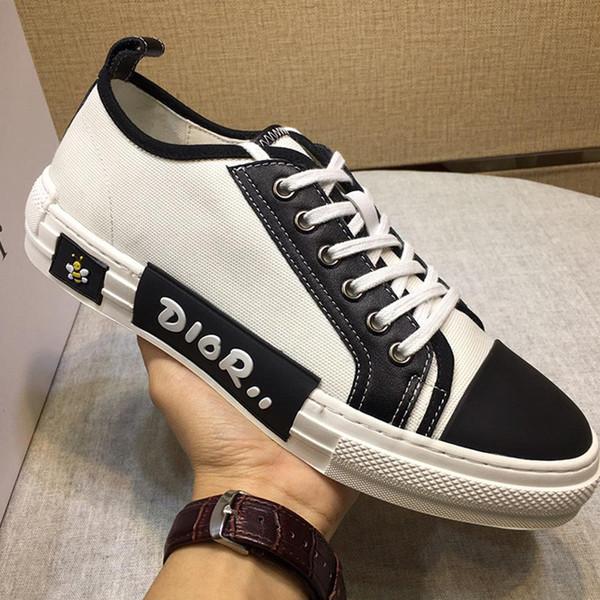 Zapatillas de deporte para hombre Zapatillas deportivas Zapatos de moda transpirables con cordones Tallas grandes de alta calidad Chaussures pour hommes B23 Low-Top Sneaker técnico