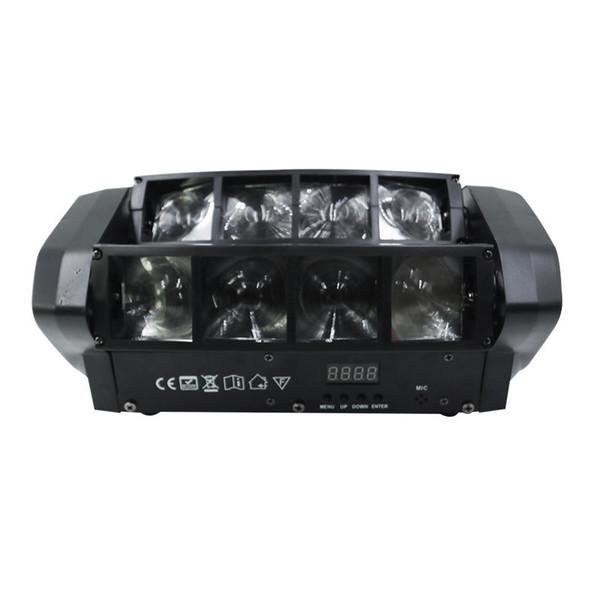 Mini 8 Lens LED Spider Stage Effect Lighting Sweep Beam Lights Full Color Head Lamp Stage Lights for Disco KTV Bar Nightclub DJ Show
