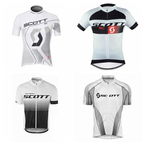 SCOTT équipe fait sur mesure été Hommes Manches Courtes Confortable Sports Léger Doux Jersey Doux Cyclisme Manches Courtes Jersey S7126