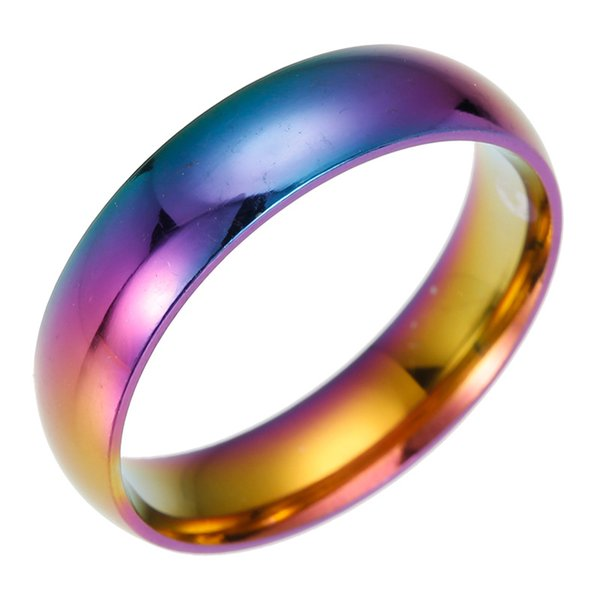Anillo de Arco Iris de Acero inoxidable Anillo de Boda Anillos de Diseñador de Moda para Mujeres Hombres Joyería de Moda Will y Sandy DROP SHIP 080199