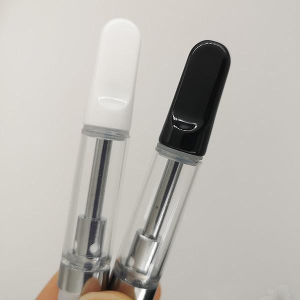 best selling 1.0ml TH205 Vape Cartridges 0.8ml 0.5ml Empty Ceramic Coil Vape Cartridge Thick Oil Ceramic Tips Glass Tank Vape Pen Atomizers 510 Vaporizer