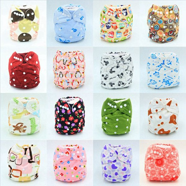 top popular Baby Diaper Nappy Pants Infant Boy Girl Cloth Diapers Adjustable Organic Printed Cartoon Washable Waterproof Reusable 2019