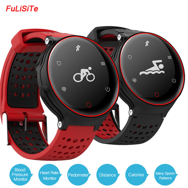 IP68 Waterproof X2 Sports Health Bracelet Blood Pressure Heart Rate Monitor Fit Band Long Standby Battery Round Fitness Watches