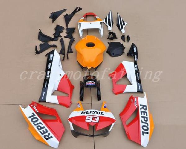 Novo ABS Modelagem Por Injeção Peças Da Motocicleta Kits 100% Apto Para Honda CBR600RR F5 13 14 15 16 17 2013-2017 carenagens conjunto repsol branco personalizado