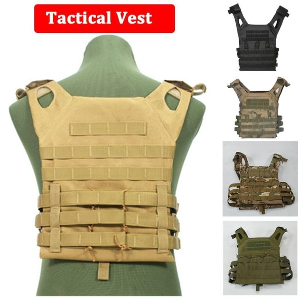 Tactical Vest Molle Combat Assault Plate Carrier Tactical Vest CS Outdoor Clothing Hunting Sportswear