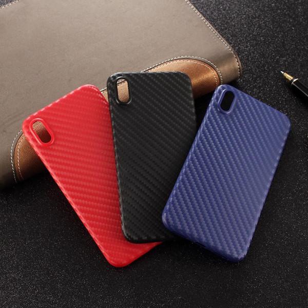 Iphone xr case shell telefone ultra-fino de fibra de carbono matte capa para iphone x x max xs x 8 plus 7 plus 6 s além de