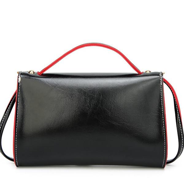 Fashion Shoulder Bag Women Leather Hit Color Crossbody Bag Handbag New Design Zipper Day Clutch Pouch Shoulder Hand Bags