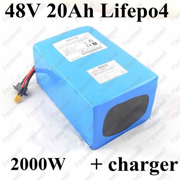 Büyük güç 48 v lifepo4 pil 48 v 20ah prizma cep kullanın 50A BMS ile lifepo4 piller için elektrikli bisiklet 2000 w 1500 w motor