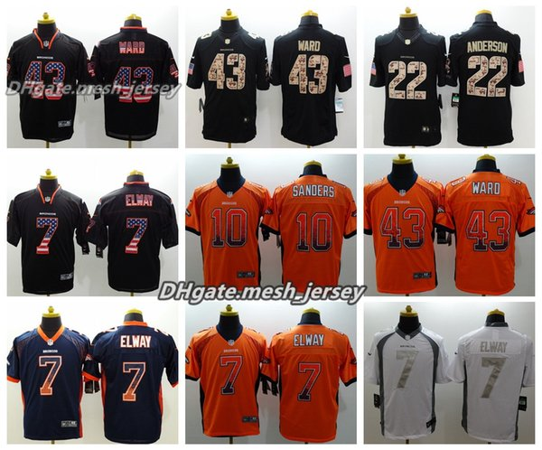 9af163f5 2019 Men Denver Jersey Broncos 43 Joseph Jones 22 Tramaine Brock 7 John  Elway Color Rush Stitching Football Jerseys From Sagala01, $21.32 |  DHgate.Com