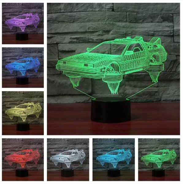 Novelty 3D Car LED Change Night Light Boys Bedroom Bedside Home Decor Lamp  Children Kids Birthday Holiday Xmas Family Man Toys Gifts Novelty For Men  ...