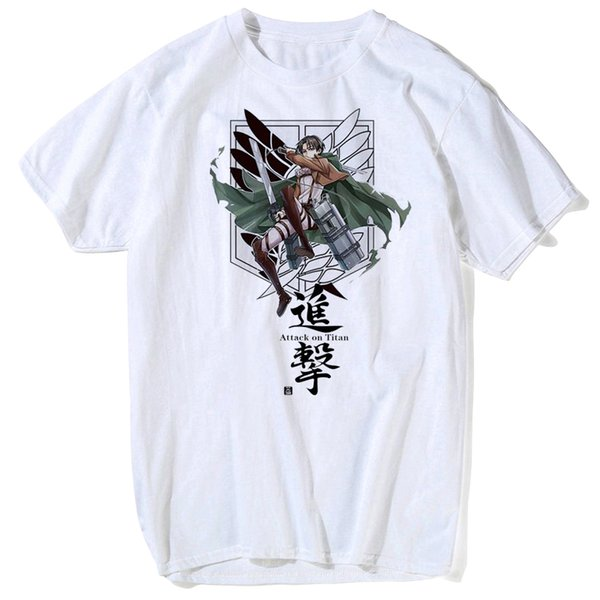 Attack on Titan T shirt Shingeki No Kyojin Levi Cosplay T-shirts Costumes Men Women Short Sleeve Summer Tees Tops plus