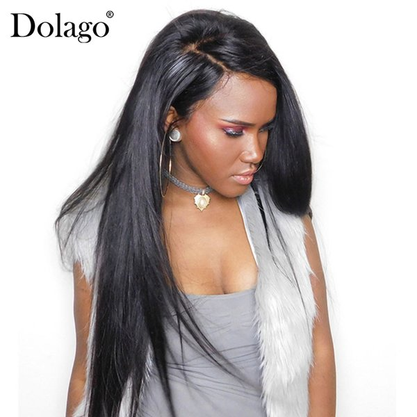 Lace Front Wigs With Baby Hair Natural Hairline Brazilian Straight Wave Human Hair Wig Pre Plucked Dolago Remy