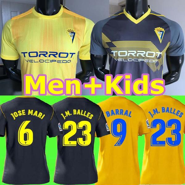 TOp tayland Cadiz forması 19 20 Cadiz Çocuklar futbol 2019 2020 home away camisetas de fútbol Jovanovic Carmona Garrido Akapo futbol formaları