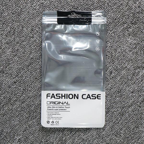 3 tamanhos 100 pçs / lote prata folha de alumínio proteção do telefone de plástico embalagem zip zip lock phone case pacote saco, tampa do telefone display bag