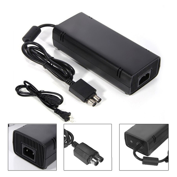 AC Power Supply Brick Charger Adapter Cable Cord For Microsoft Xbox 360 SLIM Charger Cable 135W Universal 110-220V Wide Voltag