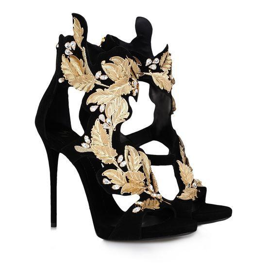 Summer Golden Wings Leaf Strappy Dress Sandals Silver Gold Gladiator High Heels Cutouts Shoes Women Metallic Winged Sandals