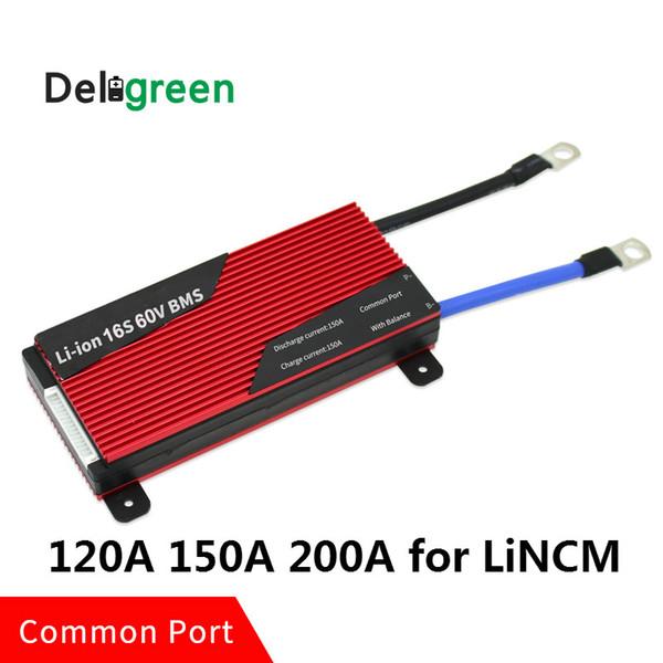 16S 120A 150A 200A 60V PCM / PCB / BMS porta comune per batteria LiNCM 18650 Lithion Ion Battery Pack scheda di protezione
