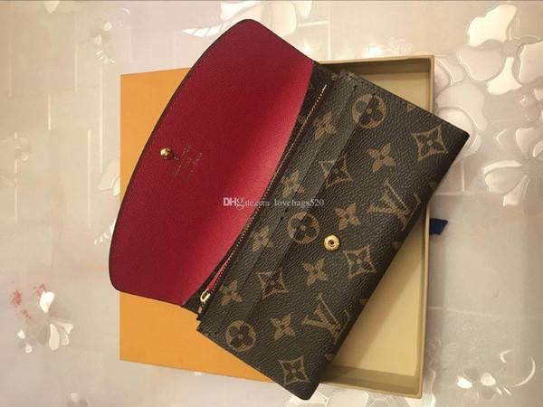Freie Shpping Großhandelsmehrfarben Dame Long Wallte Mehrfarbengeldbörse Kartenhalter Frauen klassische Reißverschluss-Tasche M60708 Josephine