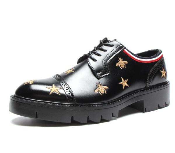 Germain Loafer Homens Negros Abelha Estrela Sapatos Mocassins Mocassins Lace Ups Correias de Monk Chinelos Drivers Sandálias Slides Sapatilhas Vestido Sapato