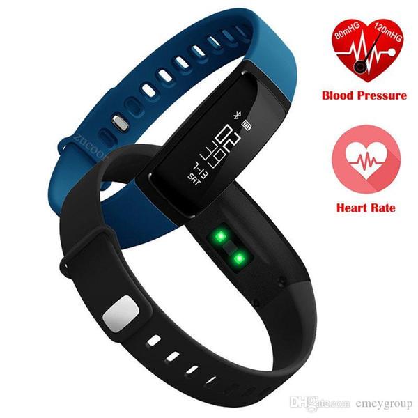 V07 Bracelet Intelligent Bande de Moniteur De Fréquence Cardiaque Bracelets Tensiomètre Pedomet Bracelet Fitness Tracker SmartBand Pour iOS Android