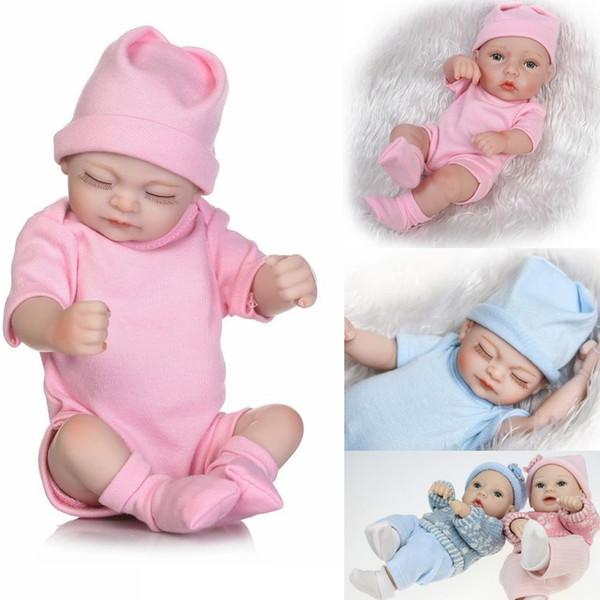 12 Stilleri Tam vücut silikon reborn bebek bebekler Reborn Bebek Bebekler El Yapımı Reborn Gerçek Görünümlü Yenidoğan Bebek Kız Silikon Gerçekçi Doll
