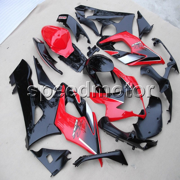 Screws+Gifts Injection mold red black motorcycle cowl Fairing for Suzuki GSX-R 1000 05 06 GSXR1000 2005 2006 K5 ABS plastic kit