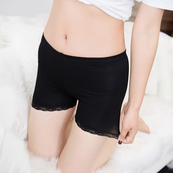La MaxPa Women Soft Cotton Seamless Safety Short Pants Summer Under Skirt Shorts Modal Ice Silk Breathable Short Tights k70