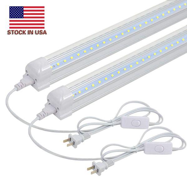 2FT uility LED shop Light Fixture,linkable 14w 6500K T8 V shape led tubes for workbench under cabinet closet plug and play 12-pack