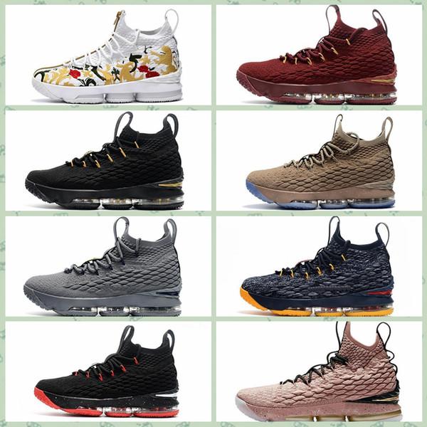 san francisco 82936 2b519 Compre Nike Air Lebron James LBJ15 LBJ 15 James 15s Purple Rain Zapatos Al  Aire Libre Con Guijarros Con Sabor A Fruta Crimson Vlot EQLITY Waffle ...