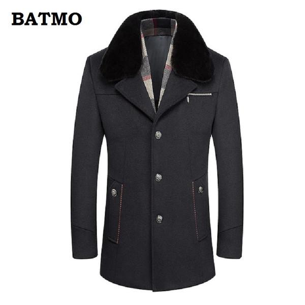 BATMO 2018 neue Ankunft Winter hohe Qualität Wolle dicken Trenchcoat Männer, warme dicke Wolle Parkas Wolle, plus Größe M-6XL, A30