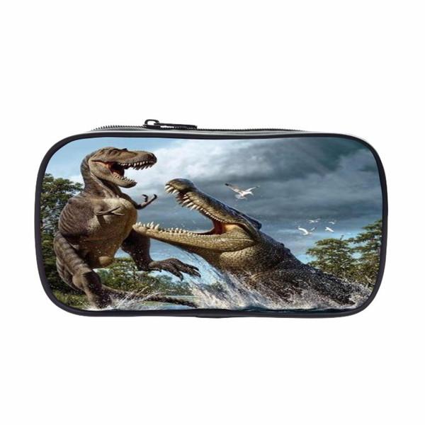 dinosaur storage bag Student pencil case dinosaur cartoon children pencil bag pen students stationery bag