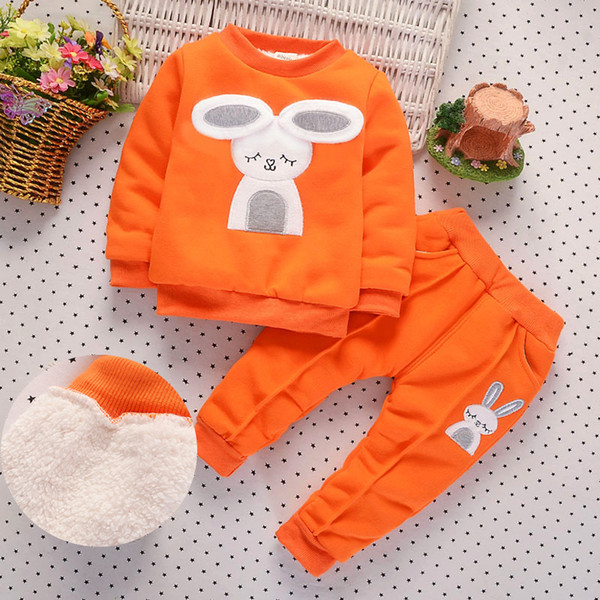 good quality Tracksuit For baby girls Clothes Sports Suit For girls Winter Clothing Set Girls Clothes Plus Velvet Thicken