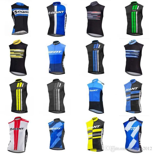 2018 NUEVO Giant Ciclismo sin mangas jersey chaleco transpirable de secado rápido ciclismo bicicleta ropa hombres equipo maillot mtb envío gratis F1324