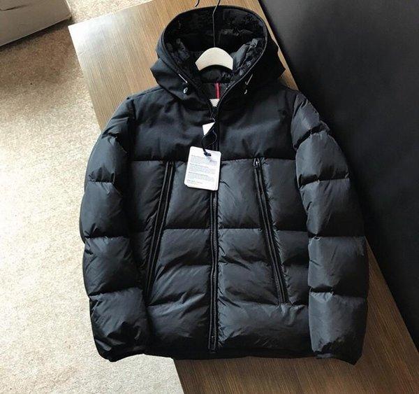 2019 Nouveau hommes d'hiver Veste femme duvet de canard manteau 1Embroidered accrocheur col logo avec toutes les balises et l'étiquette à manches amovibles hommes »