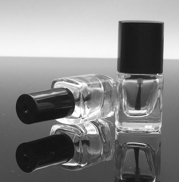 200pcs 5ml Square nail polish bottle bottles with white black lid,Small Glass Nail Polish Bottle new fashion