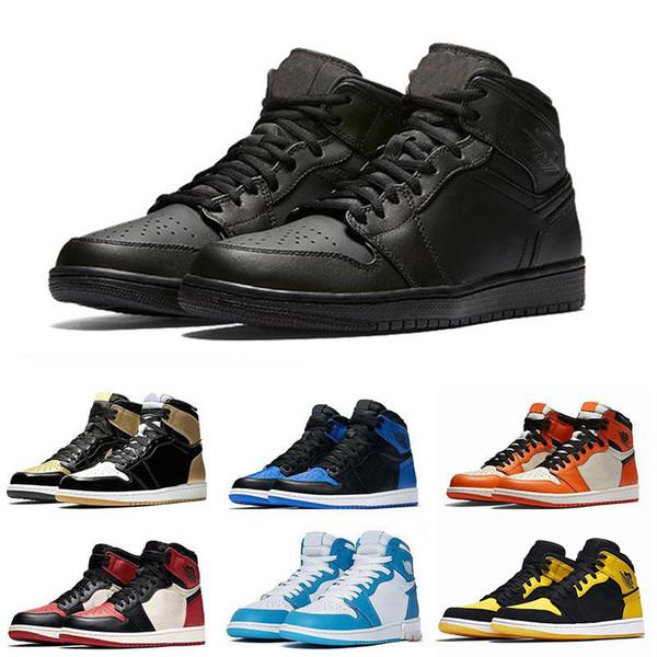 1OG Basketball Men Shoes Chicago Black White Pine Green HomageTo Home Top Paris Saint German 1s Designer Women Sport Sneakers Size 36-47