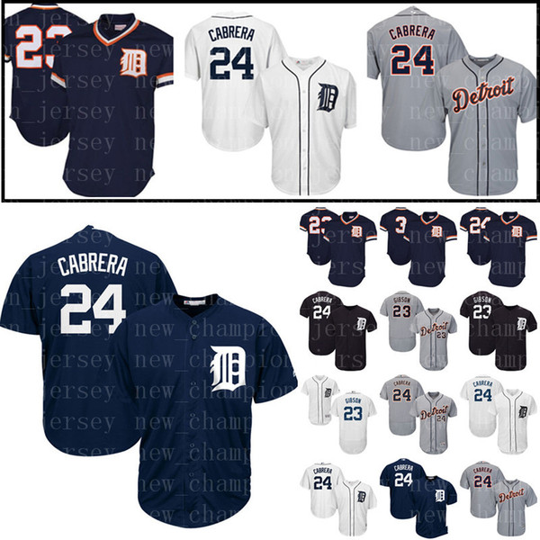 premium selection b9079 75194 2019 Men'S Detroit Tigers Jersey 24 Miguel Cabrera 23 Kirk Gibs Baseball  Jerseys Majestic Navy Alternate Embroidery Stitched Jerseys Cheap Sale From  ...