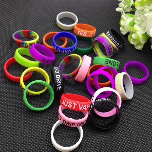 Silicon rubber band vape ring e cigarette accessories for mechanical mods decorative and protection vape mod 18650 22mm mod rda rba atomizer
