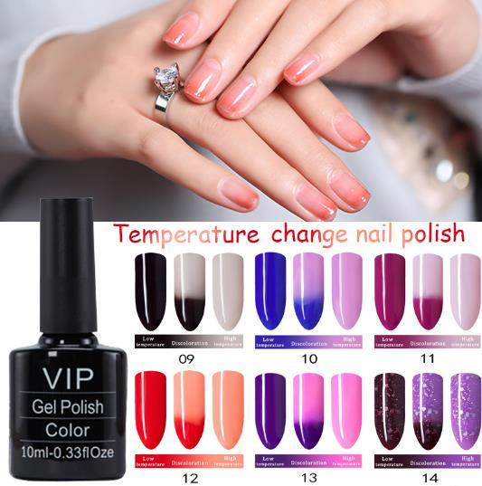 Temperature Color Changing Nail Gel Polish Long-lasting Soak-off LED UV Thermo Chameleon Nail Polish For Fashionable Woman