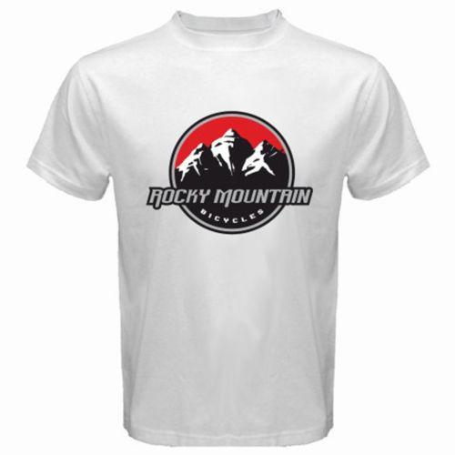 New Rocky Mountain Canadian Bicycles Logo Men's White T-Shirt Size S-3XL High Quality Custom Printed Tops Hipster Tees T-Shirt