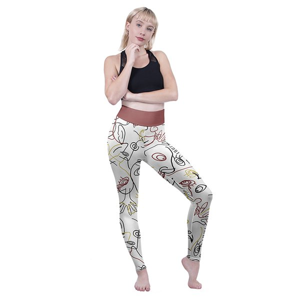 Women High Waist Leggings Find My Face 3D Graphic Full Printed Sport Yoga Wear Pants Lady Skinny Pencil Fit Girl Fitness Trousers (Y52063)