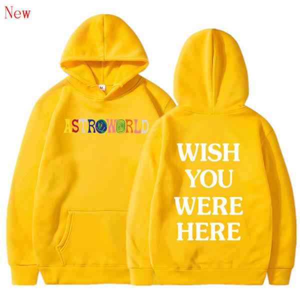 Free Shipping WISH YOU WERE HERE hoodies fashion letter print Hoodie streetwear Man and woman Pullover Sweatshirt QJ5