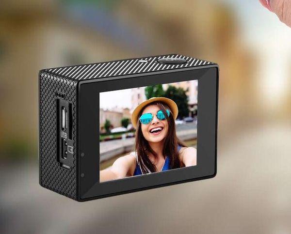 "New -4K Sports Camera H29 Mirror Camera 4K / 30fps 1080P Sports WiFi 2.0 ""170D Helmet Cam Underwater Waterproof Professional Camera"